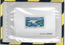 BLOC FEUILLET NUMEROTE 04934/8000 REPRENANT LE TIMBRE DES 50 ANS DU CONCORDE - Mint/Hinged