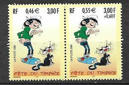 Paire N° 3371A      Gaston Lagaffe  Neufs * * TB =MNH VF Voir Scan  Soldé Au Prix De La Poste En 2001 ! ! ! - Unused Stamps