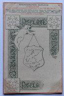 CPA Publicitaire 02 Sinceny Belle Illustration Ange Sténographie Emile DUPLOYE - Altri Comuni
