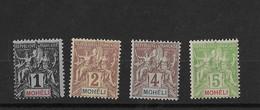 Mohéli N° 1 à 4** Neuf Sans Charnière - Unused Stamps