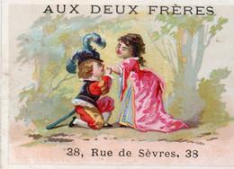 AUX DEUX FRERES Rue Sèvres Rue Bac PARIS RUFFIN Chromo Factire Alfred Clarey Impeccable - Altri