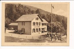 Carte De L' Hôtel Du Lac De La Lauch ( Tampon Au Dos Du Café Restaurant BEYER Chef De Cuisine Poste LINTHAL ) - Autres Communes