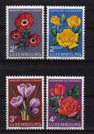 Luxemburg 1956 Flowers Y.T. 506/509 ** - Nuovi