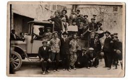 PIGNAN GROUPE DE FANFARE CAMION CARTE PHOTO TRES ANIMEE - Otros Municipios