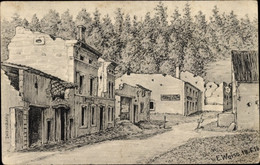 Artiste CPA Weise, E., Apremont Ardennes, Kriegszerstörungen, I. WK - Sonstige Gemeinden