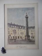 """Grand Menu - Hôtel RITZ PARIS 75001 """"L'ESPADON"""" Restaurant Gastronomique - Illustration Signée : COLONNE VENDOME - Menus"""