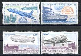 RC 16359 St PIERRE ET MIQUELON COTE 16,70€ N° 64 / 67 POSTE AERIENNE NEUF ** TB MNH VF - Unused Stamps