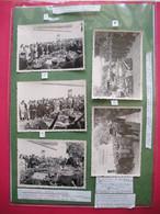 1958 Guerre D'Algérie Sétif 5 Photos Originales 3 Gendarmes Nommés Tués Au Combat Par FLN Légendées 10.3x7.2 Cms - Guerre, Militaire