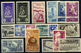 Siria (aéreo) Nº 66/7, 72/83, 101/3. Año 1955/56 - Syria