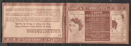 Carnet Semeuse N°199-C26, Série 194 SA Crème Mercier Hamaelis Pub. D.U. Calvet Kwatta - Freimarke