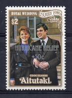 Aitutaki - 1987 - Hurricane Relief, Royal Wedding - MNH - Aitutaki