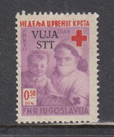 Triest B 1950 - Zwangszuschlagsmarken: Red Cross, Mi-Nr. 2, MNH** - Nuevos