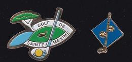 71891-Lot De 2  Pin's-Golf.Sainte-maxime. - Golf