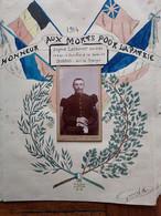 JOLI DOCUMENT AVEC CDV FAIT POUR LE SOLDAT EUGENE LEPROVOST DU 47e RI MORT A AGNY PRES D'ARRAS LE 08/10/1914 - 1914-18