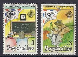 Seychelles 1990 - International Literacy Year, Farming, Instruction - Used - Seychelles (1976-...)