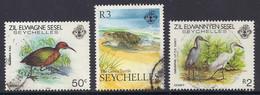Seychelles 1988 - Fauna, Birds, Aldabra Rail, Dimorphic Little Egret, The Green Turtle, Marine Life, Faune - Used - Seychelles (1976-...)