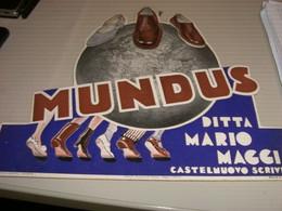 TARGA PUBBLICITARIA IN CARTONE DITTA MARIO MAGGI CASTELNUOVO SCRIVIA -MUNDUS - Plaques En Carton