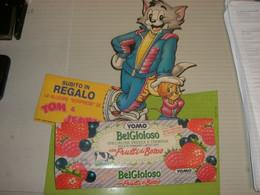 TARGA PUBBLICITARIA IN CARTONE YOMO BEL GIOIOSO CON TOM E JERRY - Plaques En Carton