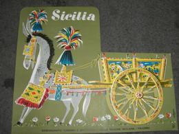 TARGA IN CARTONE SICILIA ASSESSOATO TURISMO E SPETTACOLO DELLA REGIONE SICILIANA - Plaques En Carton