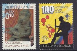 Ecuador 2006 / 2007 - Arte Erotico, Pre-Columbian Erotic Art, Arte, Fecundation And Life, Statue, Sculpture, Scout, Used - Ecuador