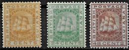 Britisch Guinea 1876, SG 127+132/33 Ungebraucht - British Guiana (...-1966)