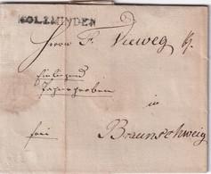 ALLEMAGNE 1814 LETTRE DE HOLZMINDEN - [1] Préphilatélie