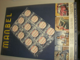 TARGA CARTONE PUBBLICITARIA MANBEL SAPONE - Plaques En Carton
