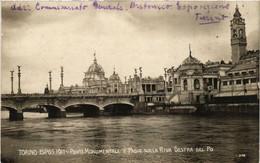 CPA AK TORINO Ponte Monumentale E Padig.Sulla Riva Destra ITALY (542303) - Ausstellungen