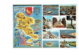 Cpm Géographique 17 ILE OLERON AIX Fouras Illustration Folklore Parapluie Coquillage Huitre Marennes Cagouilles Dolmen - Other Municipalities