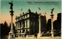CPA AK TORINO Padiglione Della Citta Di Parigi E Ponte Mon. ITALY (542744) - Ausstellungen