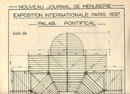 Exposition Internationale Paris 1937 Plans Du Palais Pontifical - Architecture