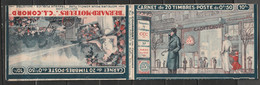 Carnet Type Paix N°283-C44, Bernard-Moteurs Pub. Ripolin, L'art Vivant, Tetra. Incomplet 15 Timbres - Usados Corriente