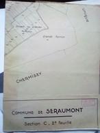 PLAN Extrait Cadastral De La Commune Se SERAUMONT.grand Format 60x50 - Other Plans
