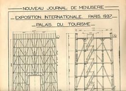 Exposition Internationale Paris 1937 Plans Du Palais Du Tourisme - Architecture
