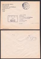 Berlin-Köpenick Deutscher Post Funkkontroll- Und Meßdienst, Postsache ZKD-Brief 20.1.89 Nach Dienstädt, Warte - Dienstpost