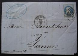 Bayonne 1868 Baïlère Frères Distillateurs  Pour Lanne, Par Aramits - 1849-1876: Période Classique