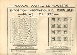 Exposition Internationale Paris 1937 Plans Du Palais Du Bois - Architecture