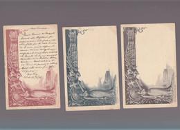 Italie / Lot De 3 CP / Entier Postal Precurseur 1896 / Nozze Principe Di Napoli Con Elena Di Montenegro - Other