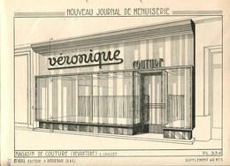 Plans D'un Magasin De Couture 1937 - Architecture