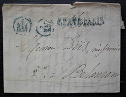 1830 Port Payé Paris En Bleu Sur Lettre De Thiériot, Libraire Pour Besançon - 1801-1848: Voorlopers XIX