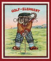 TEXTILE LABEL - GOLF ELEPHANT - 1930 - Werbung