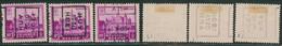 """Antituberculeux (Chateaux) - N°308 Préo """"Huy 1930 Hoei"""" Position A, B Et D Incomplet (n°5965) - Roller Precancels 1930-.."""