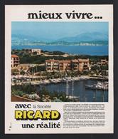Pub Papier 1976 Boisson Alcool RICARD Les Embiez  Var 83 Observatoire Bombard - Publicidad