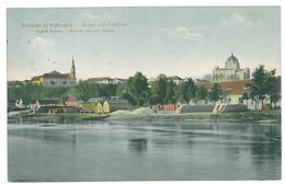 CRO 1 - 13075 VUKOVAR, Synagogue And Danube - Old Postcard - Used - 1909 - Kroatië