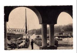 """12866 """" ESPOSIZIONI TORINO 1928-PADIGLIONE SOMALO """" ANIMATA-VERA FOTO-CARTOLINA SPEDITA 1928 - Ausstellungen"""