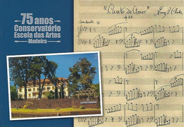 PORTUGAL - Entier Postaux N20g - 75 Years Of The Madeira School Of Arts Conservatory - Music