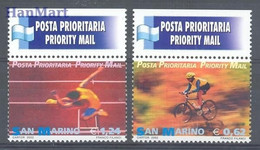 San Marino 2002 Mi 2020-2021 MNH  (ZE2 SMR2020-2021) - Athletics