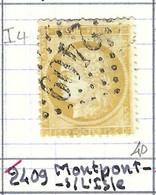 FRANCE Classique: Le Y&T 59, Obl. GC 2409 (Montpont-sur-l'Isle, Ind.4), DORDOGNE - 1871-1875 Ceres