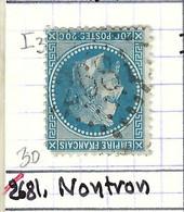 FRANCE Classique: Le Y&T 29A, Obl. GC 2681 (Nontron, Ind.3), DORDOGNE - 1863-1870 Napoleon III With Laurels