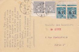 Carte Avec Affranchissement Arc De Triomphe Et Libération - 1921-1960: Modern Period